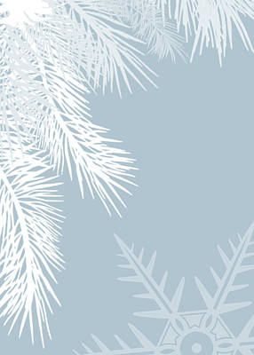 Light Blue Drawing - Christmas In Baby Blue - No Text  by Maggie Terlecki