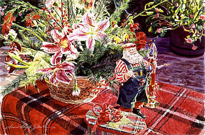 Painting - Christmas In California by David Lloyd Glover