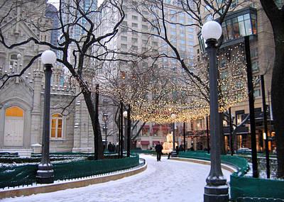 Christmas In Chicago Art Print