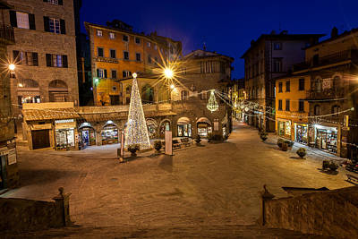 Photograph - Christmas In Cortona 5 by Al Hurley