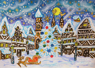 Painting - Christmas In Europe by Irina Afonskaya