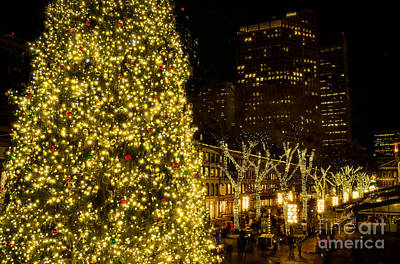 Photograph - Christmas In Faneuil Hall by Mike Ste Marie