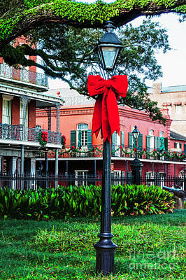 Photograph - Christmas In Jackson Square 1 by Frances Ann Hattier