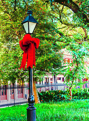 Photograph - Christmas In Jackson Square 2 by Frances Ann Hattier