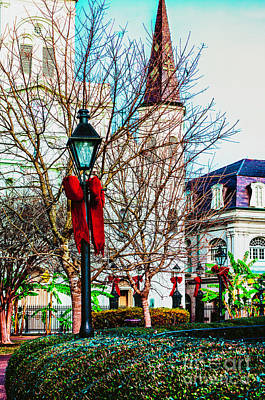 Photograph - Christmas In Jacson Square 3 by Frances Ann Hattier