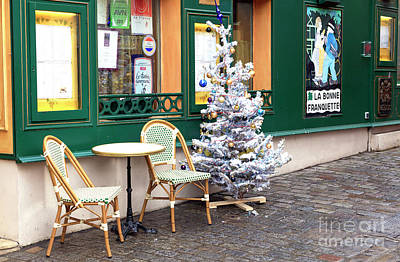 Photograph - Christmas In Montmartre Paris by John Rizzuto