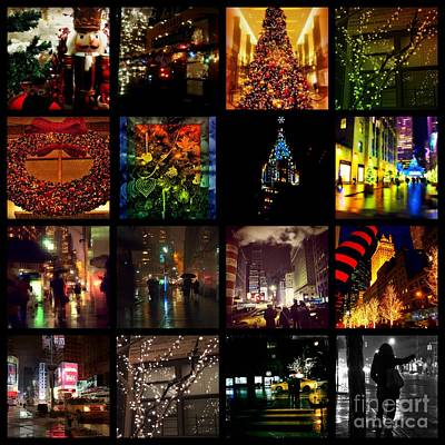 Photograph - Christmas In New York - Picture Panel by Miriam Danar