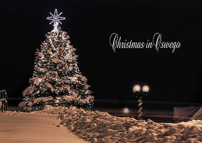 Art Print featuring the photograph Christmas In Oswego by Everet Regal