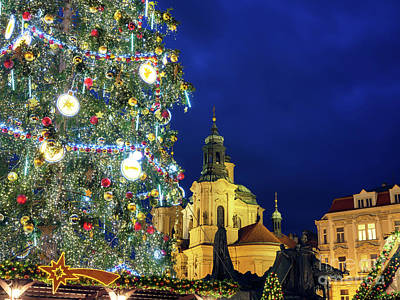 Photograph - Christmas In Prague by John Rizzuto