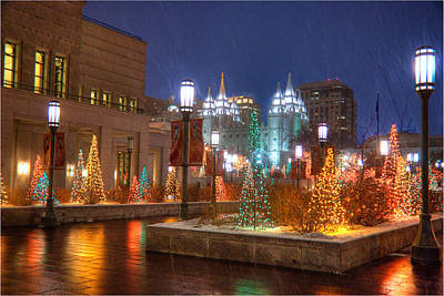 Photograph - Christmas In Salt Lake City by Utah Images