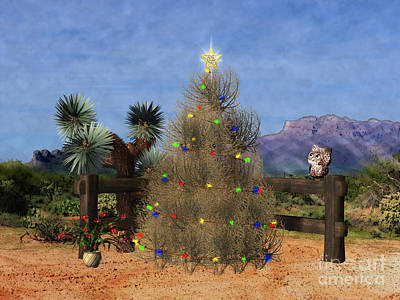 Digital Art - Christmas In The Desert by Methune Hively