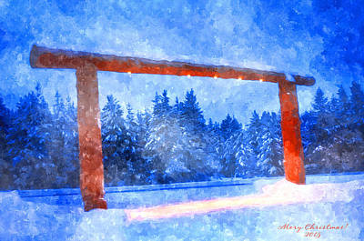 Christmas In The Mountains Print by Image Takers Photography LLC - Laura Morgan