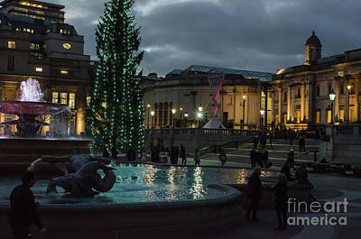 Photograph - Christmas In Trafalgar Square, London 3 by Perry Rodriguez