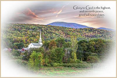 Photograph - Christmas In Vermont by Deborah Klubertanz