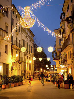 Christmas In Vicenza Italy Art Print