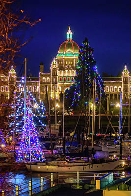 Photograph - Christmas In Victoria by Keith Boone