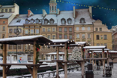Christmas Market Photograph - Christmas In Warsaw by Juli Scalzi