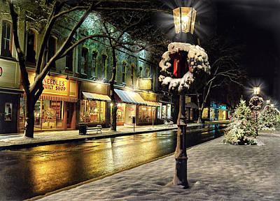 Photograph - Christmas In Wellsboro, Pa by Bernadette Chiaramonte