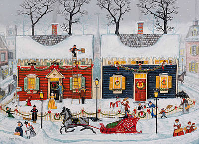 Painting - Christmas Is Just Around The Corner by Joseph Holodook