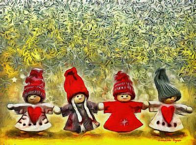 Vladimir Putin Digital Art - Christmas Is Now - Da by Leonardo Digenio