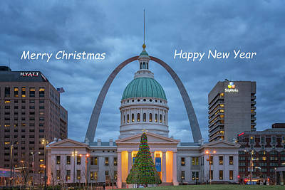 Photograph - Christmas Jefferson National Expansion Memorial St Louis 7r2_dsc3574_12112017 Text by Greg Kluempers