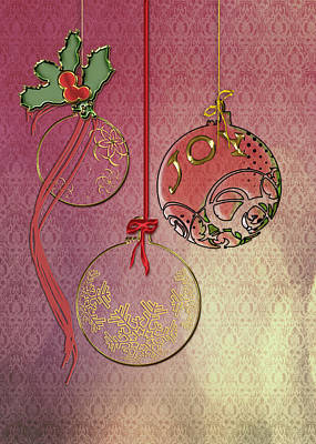 Christmas Cards Digital Art - Christmas Joy by Arline Wagner