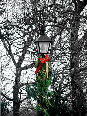 Photograph - Christmas Lamppost by Rae Tucker