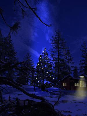 Digital Art - Christmas Landscape by Virginia Palomeque