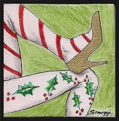 Christmas Legs Art Print