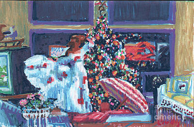 Painting - Christmas Liberty by Candace Lovely