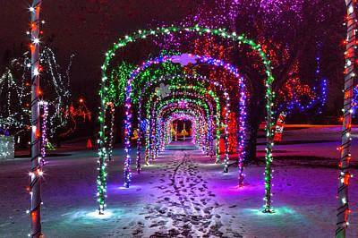 Christmas Light Arches Art Print