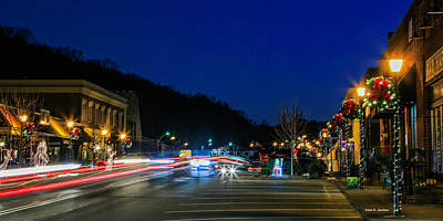 Photograph - Christmas Light Show by Bluemoonistic Images