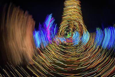 Photograph - Christmas Lights Abstract II by Rick Berk