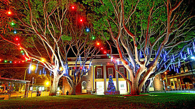 Photograph - Christmas Lights And Manly Council by Miroslava Jurcik