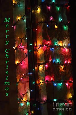 Christmas Lights Card Original by Linda Phelps