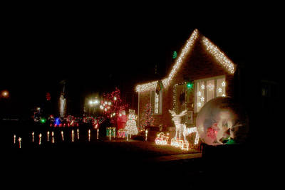 Photograph - Christmas Lights by David Coblitz