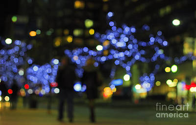Photograph - Christmas Lights In City by Charline Xia