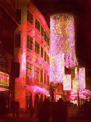 Photograph - Christmas Lights In Historic Vienna by Menega Sabidussi