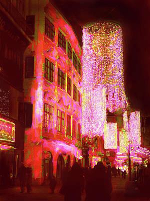 Photograph - Christmas Lights In Historic Vienna by Menega Sabidussi