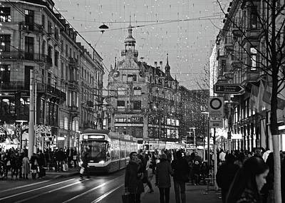 Photograph - Christmas Lights In Zurich by Matt MacMillan
