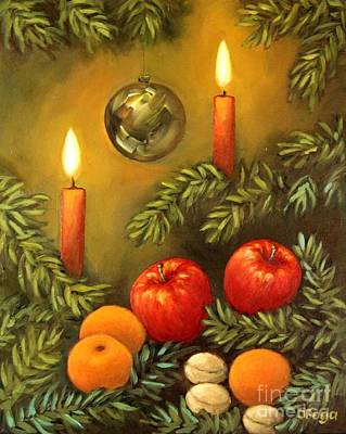 Painting - Christmas Lights by Inese Poga