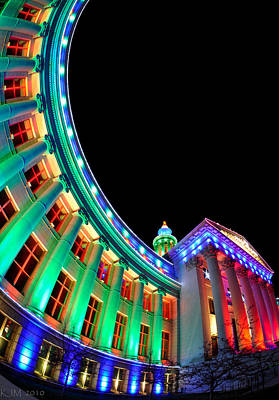 Photograph - Christmas Lights Of Denver Civic Center Park by Kevin Munro