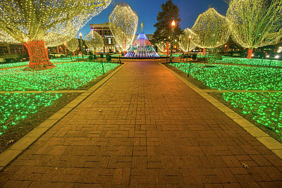 Photograph - Christmas Lights On The Bentonville Town Square  by Gregory Ballos