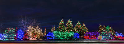 Photograph - Christmas Lights Panorama by Patti Deters