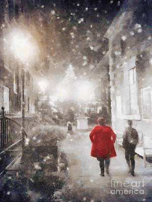 London Painting - Christmas Lights by Pixel Chimp