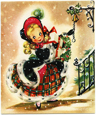 Painting - Christmas Little Girl Victorian by R Muirhead Art