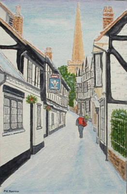 'christmas Mail', Ledbury, Herefordshire Art Print
