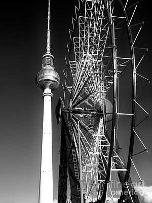 Photograph - Christmas Market Ferris Wheel by John Rizzuto