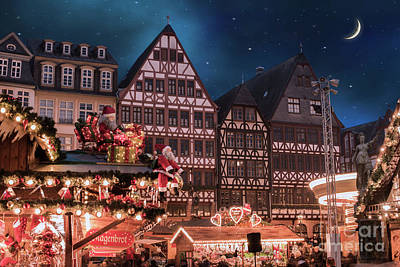Christmas Market Art Print by Juli Scalzi