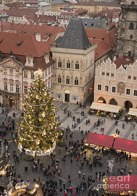 Christmas Market. Prague Art Print